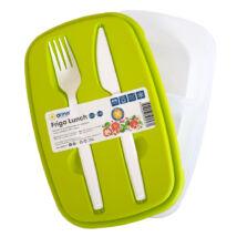 Ételhordó doboz evőeszközzel