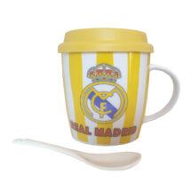 Real Madrid bögre fedővel és kanállal