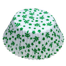 Muffin papír 12 cm - zöld leveles - 50 db