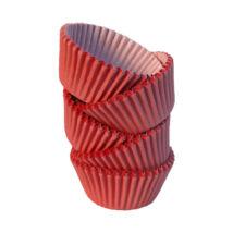 Muffin papír 8 cm piros