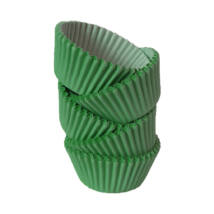 Muffin papír 12 cm sötétzöld - 100 db