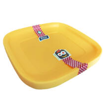 Színes műanyag tányér 4db - 23x23cm
