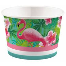 Flamingós papír fagyi kehely 8 db