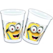 Minions műanyag pohár 8 db