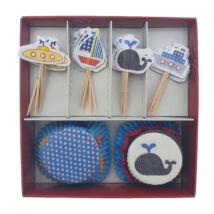 Tengeres muffin dekoráló szett
