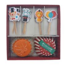 Cirkuszos muffin dekoráló szett