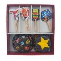 Űrlényes muffin dekoráló szett