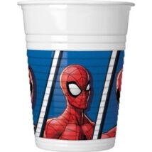 Pókemberes műanyag pohár 8 db