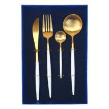 Moderno exclusive evőeszközkészlet - fehér/arany