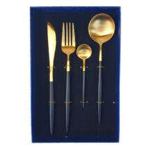 Moderno exclusive evőeszközkészlet - fekete/arany