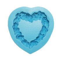 Rózsa szív fondant/marcipán formázó