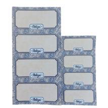 Öntapadós konyhai címke 40db - kék