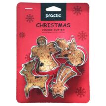 Karácsonyi sütikiszúró szett 4 db - Angyal, csillag, rénszarvas, hóember
