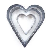 Szív alakú kiszúró szett 3 db