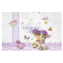 Levendulás, pillangós tányéralátét 6db
