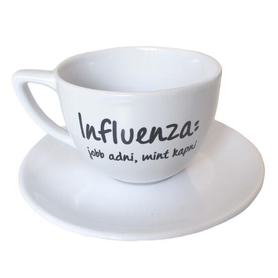 Nagy méretű vicces bögre - Influenza