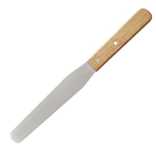 Cukrász spatula kenőkés fa nyéllel - 28 cm