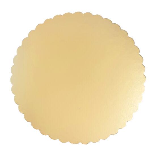Arany tortakarton, tortaalátét fodros 24 cm
