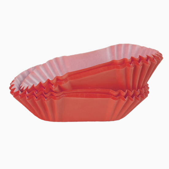 Hosszúkás muffin papír 50 db piros