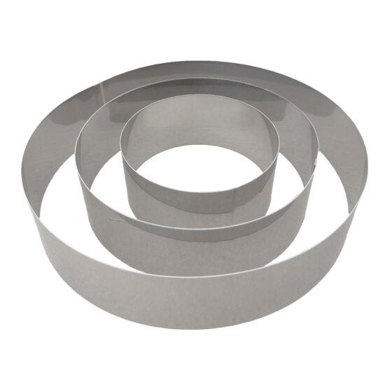 Kör alakú tortakeret 3 részes