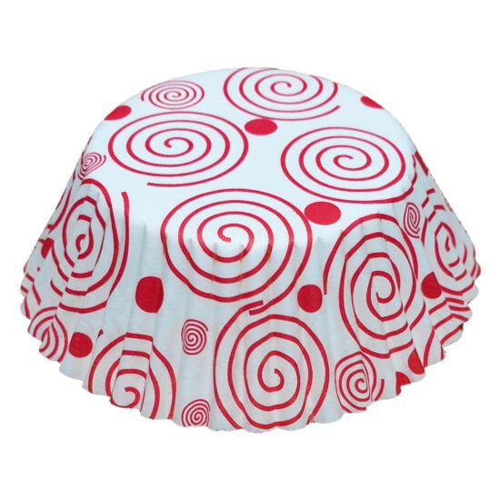 Muffin papír 10,5 cm - spirálos - 75 db