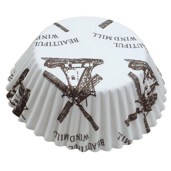 Muffin papír 10,5 cm - szélmalmos - 75 db