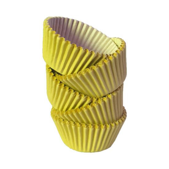 Muffin papír 12 cm citromsárga - 100 db