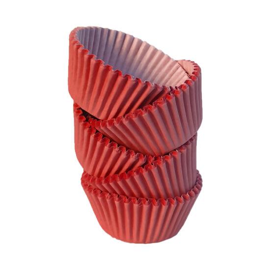 Muffin papír 8 cm piros - 100 db