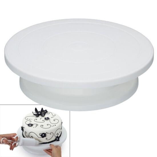 Forgatható tortadíszítő állvány