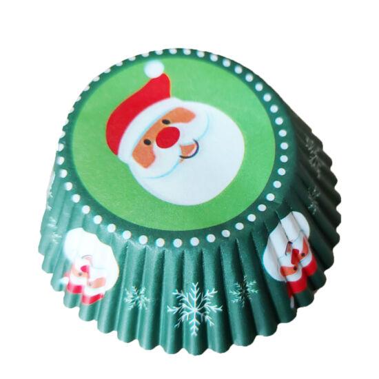Karácsonyi muffin papír 50db - Télapó