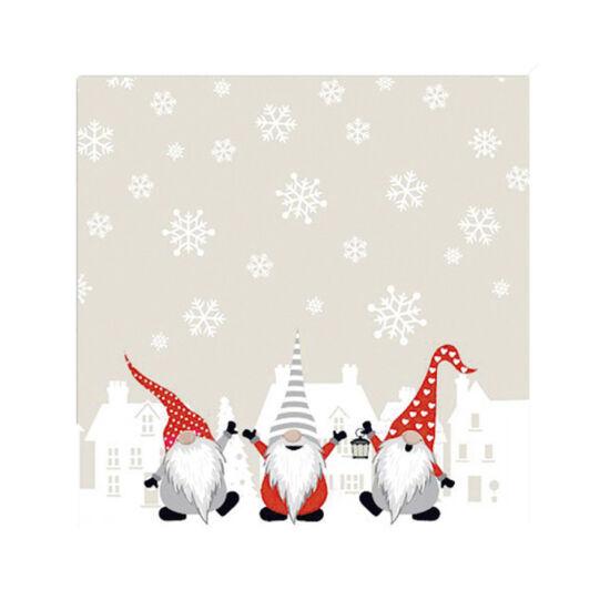 Karácsonyi szalvéta - Manók - 20db