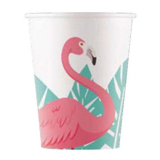 Flamingós papír pohár 8 db