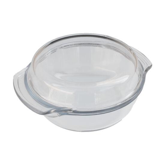 Hőálló sütőtál fedővel kerek - 2,4l