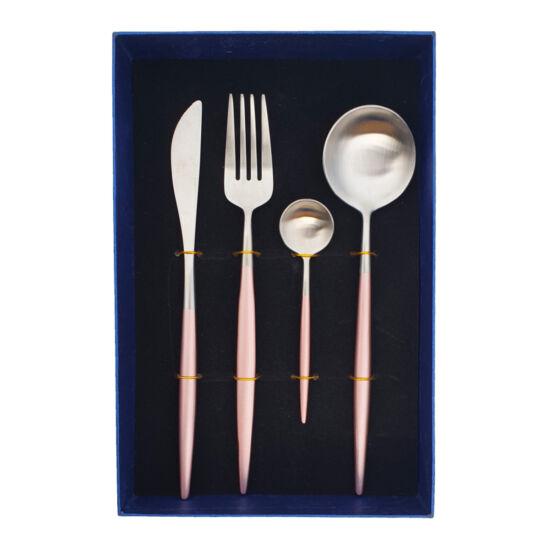 Moderno exclusive evőeszköz készlet - rosegold/ezüst - 4 részes