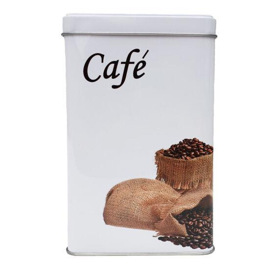 Fémdoboz kávé mintás