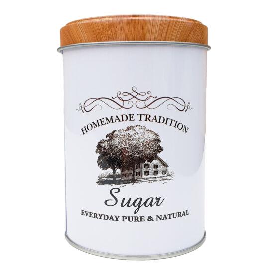 Fémdoboz cukor - henger
