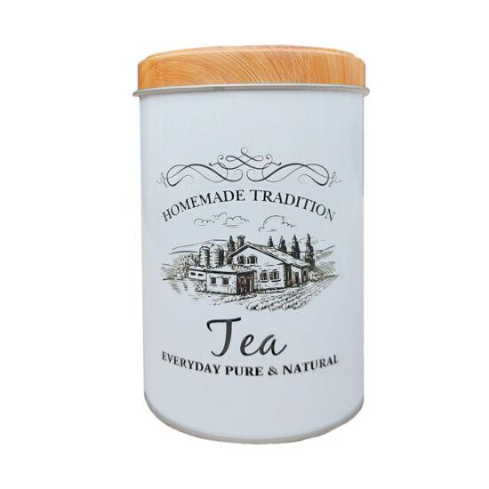 Fémdoboz tea - henger