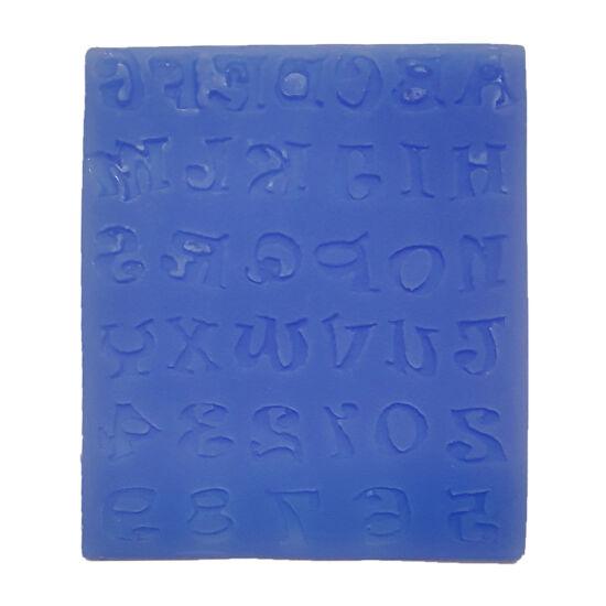 Játékos betűk fondant/marcipán formázó