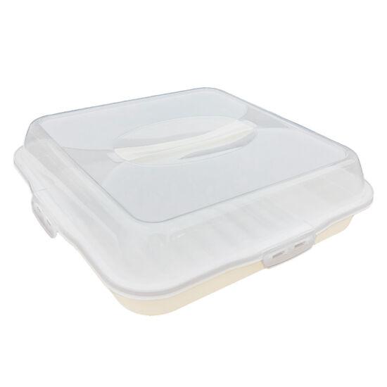 Sütemény tároló doboz - szögletes