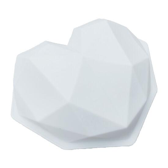 Gyémánt szív mousse szilikon forma