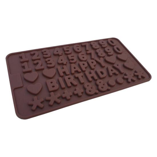 Happy Birthday csoki szilikonforma