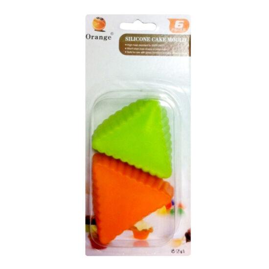 Muffin szilikon forma - háromszög - 6db