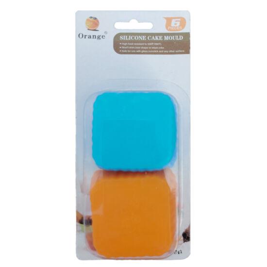 Muffin szilikon forma - négyzet - 6db