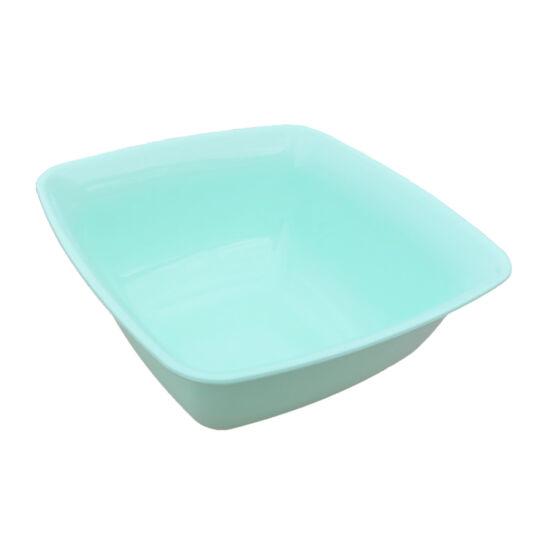 Színes szögletes műanyag tál - 1liter