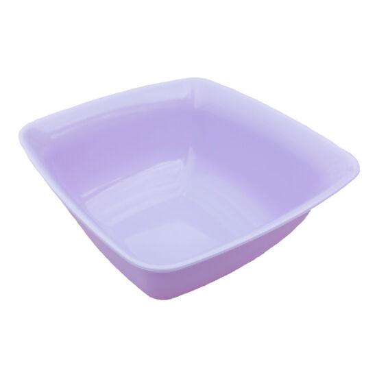 Színes szögletes műanyag tál - 0,6liter