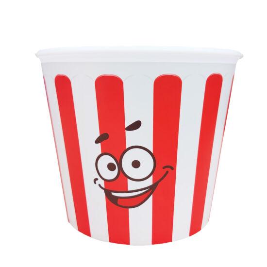 Popcorn vödör - csíkos