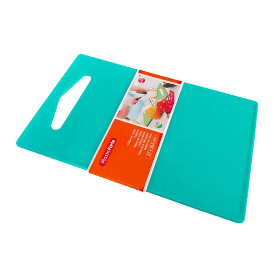 Műanyag vágódeszka színes 27x16,5cm